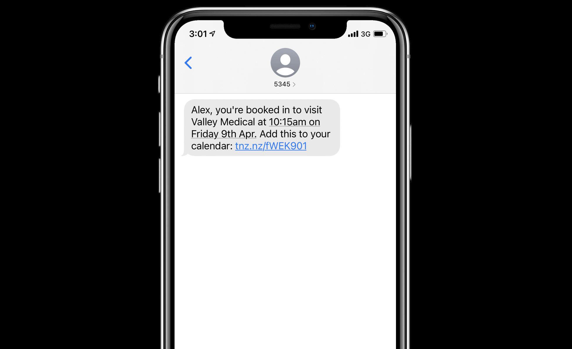 SMS Reminder with Calendar Link